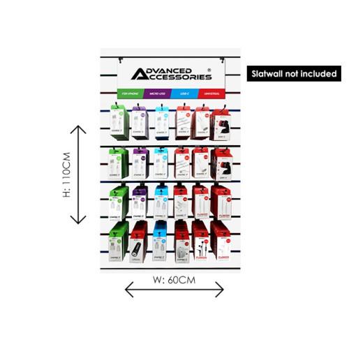 217Pcs Advanced Accessories Slatwall Starter Kit Apple MFi POR 74%/£1306.06