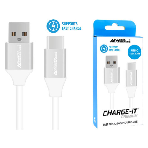 AA CHARGE-IT Premium USB-C Cable Supports Fast Charge