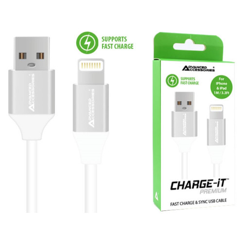 AA CHARGE-IT Premium 8 Pin Cables Supports Fast Charge & Sync for Apple Lightning devices