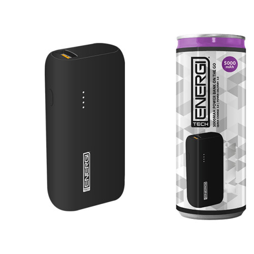 Tech Energi® TE50 PD (Power Delivery) QC 3.0 (Quick Charge) 5000mAh Power Bank On the Go