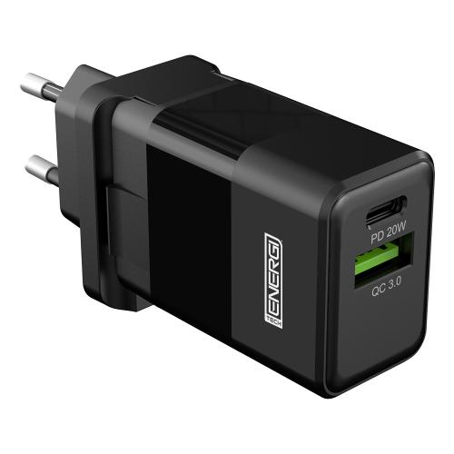Tech Energi 20W 3A PD Dual USB/USB-C EU Mains Charger