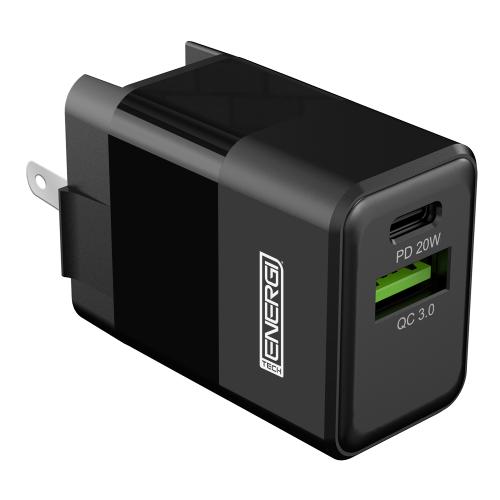 Tech Energi 20W 3A PD Dual USB/USB-C USA Mains Charger